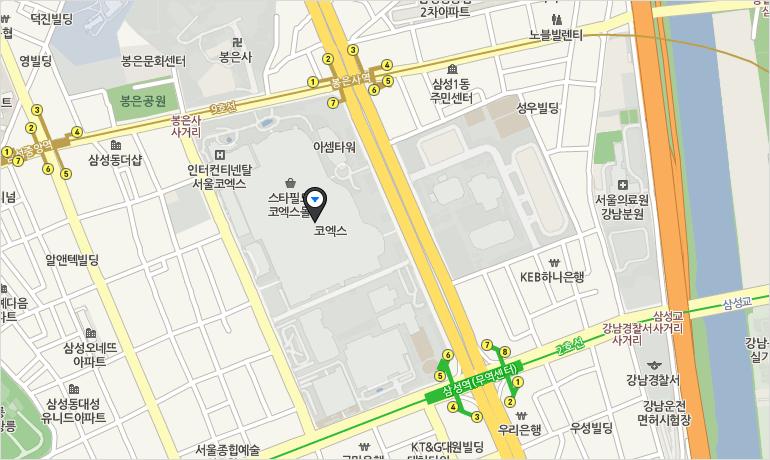 COEX E홀 지도